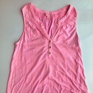Lilly Pulitzer Pink Essie Top Size M